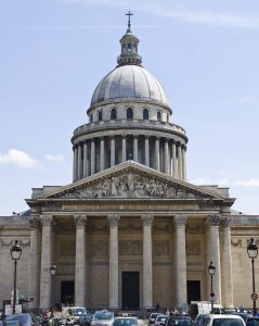 The facade of the Panthéon