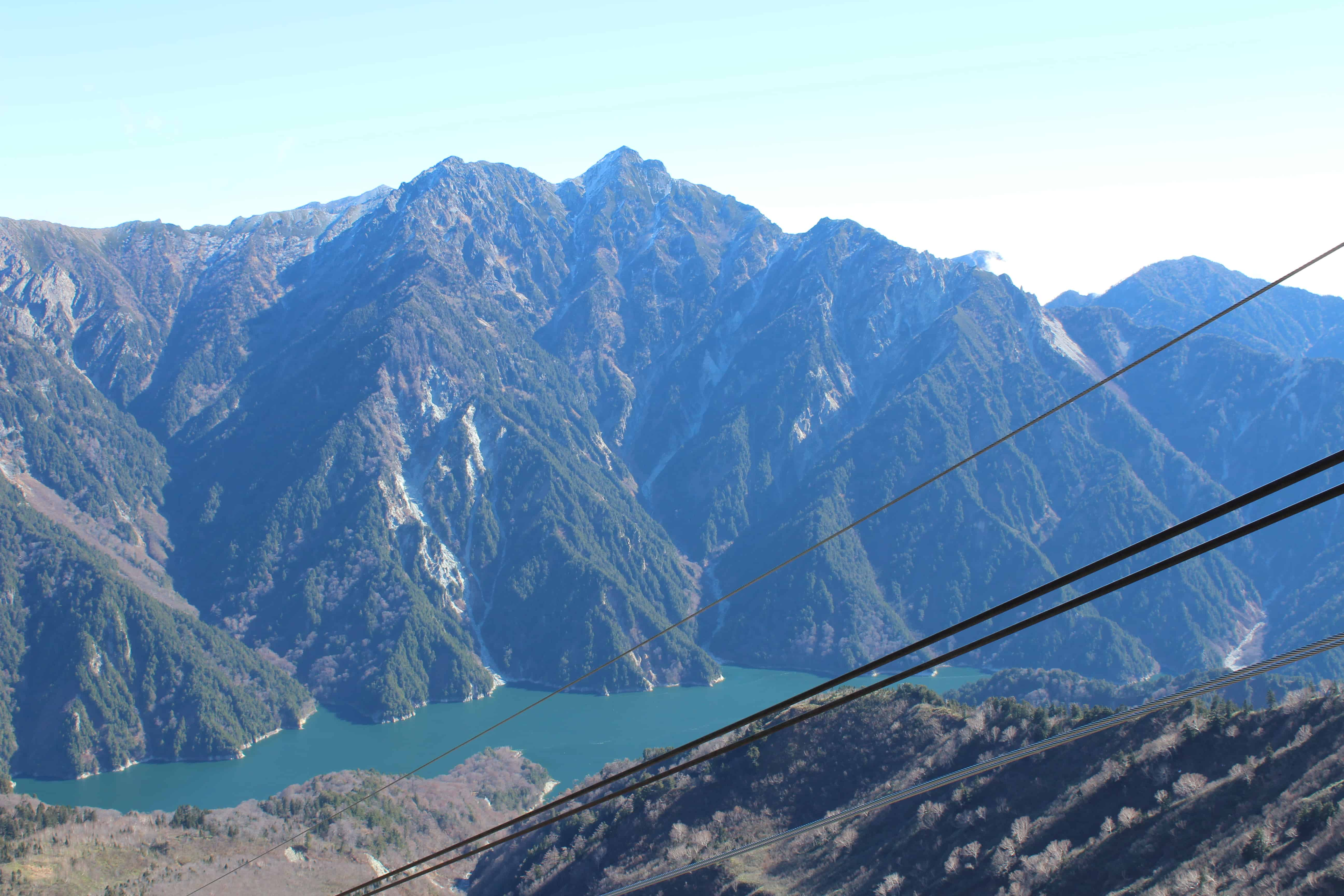 View from the top of the Alpine Route