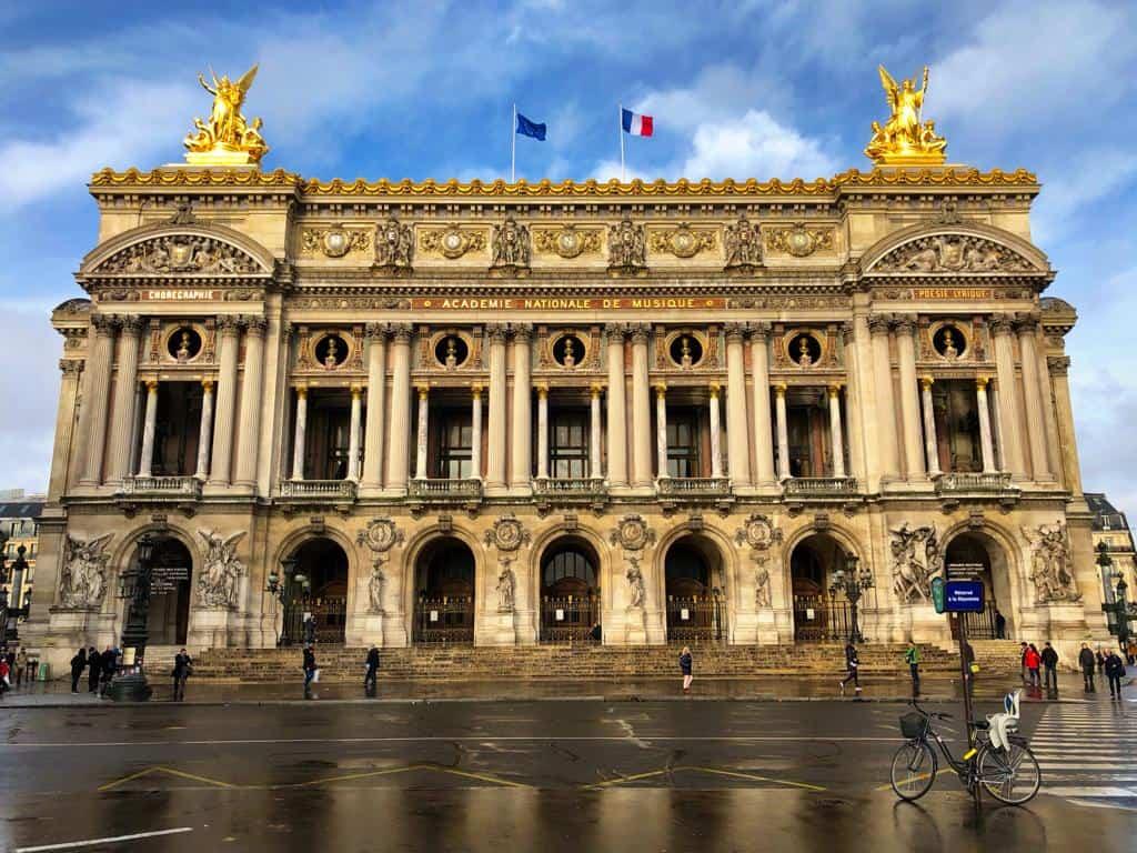The front facade of the Garnier Opera House