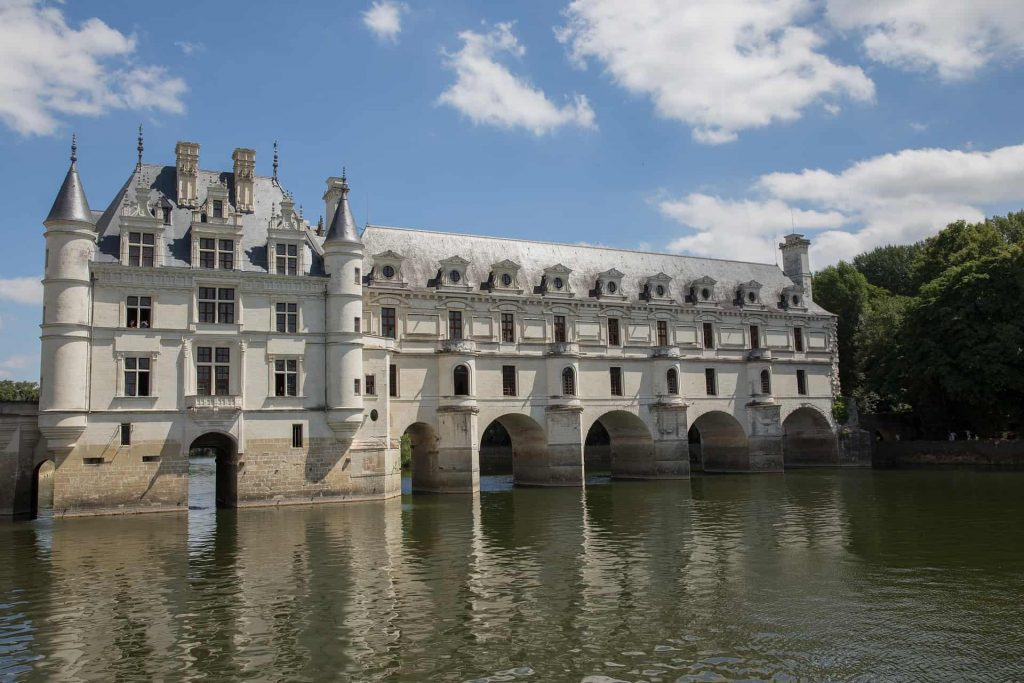 The Chateau de Chenonceau over the River Cher/