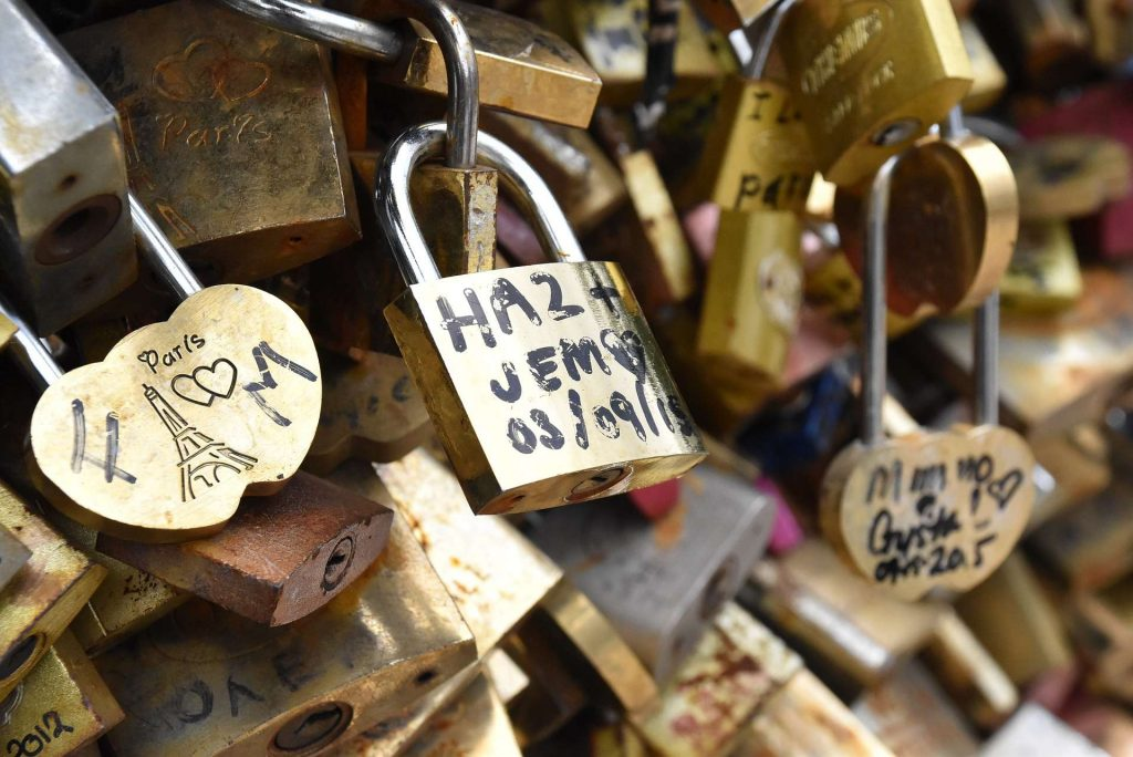 Love locks in Paris to help its reputation as the city of love.