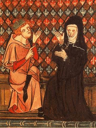 Medieval rendering of Heloise and Abelard