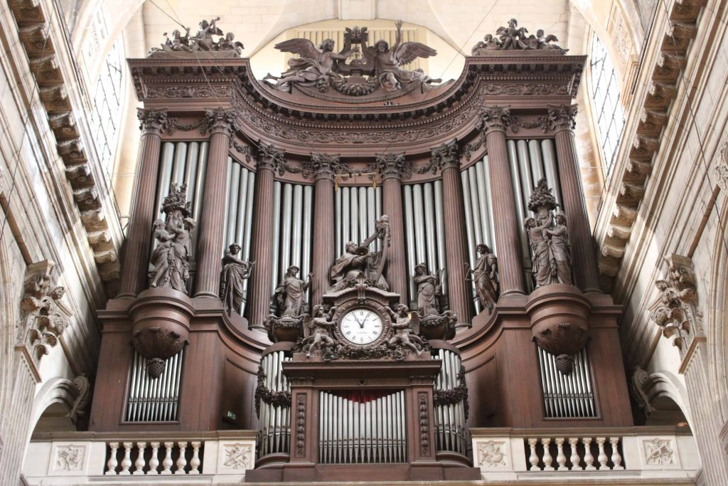 A photo of the Grand Organ at Saint Sulpice, one of the churches to visit in Paris