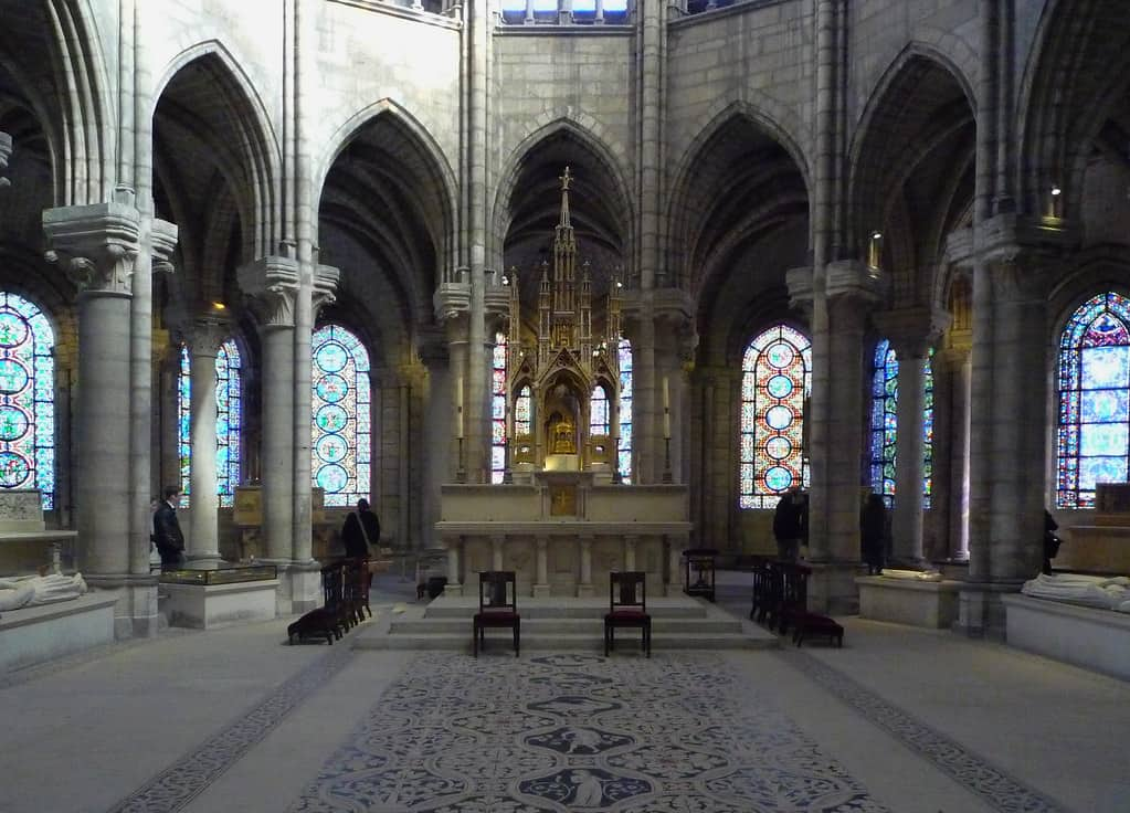 A view of the altar of the St. Denis Basilica