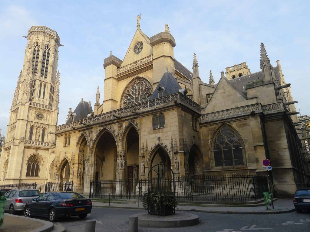 A photo of the exterior of St. Germain L'Auxerrois.