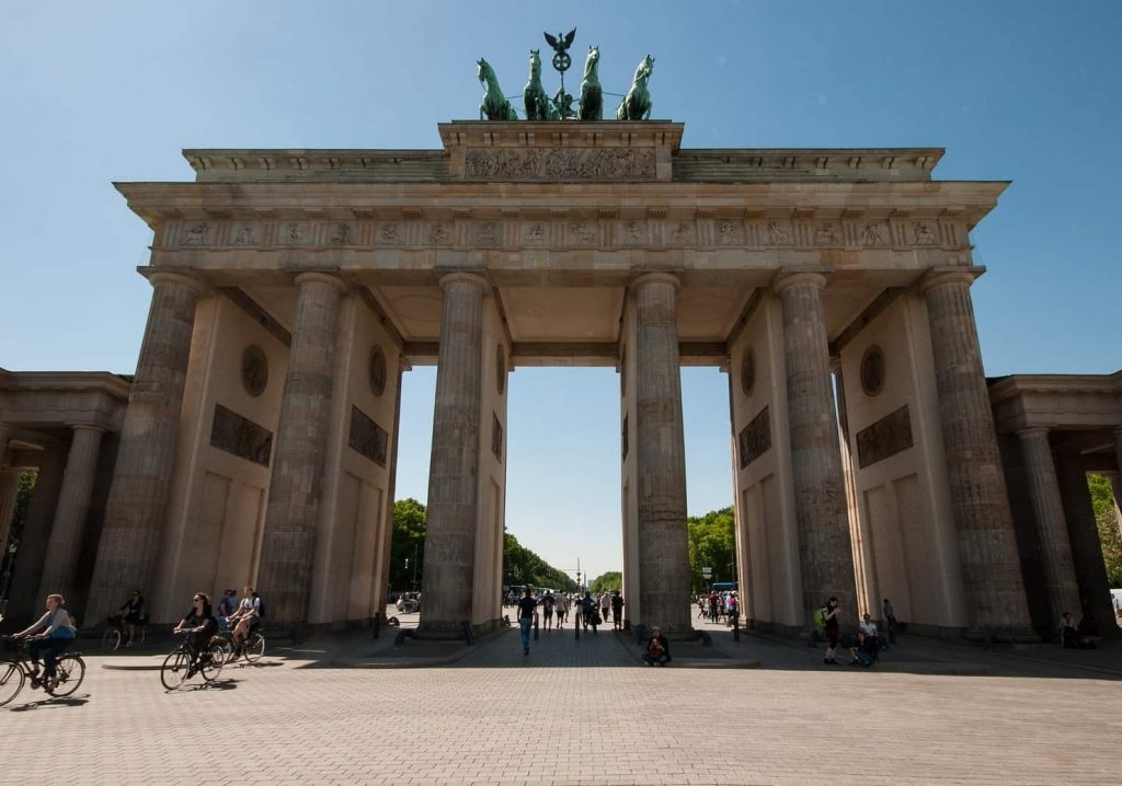 A photo of the Brandenburg Gate in Berlin, one of the stops on the highlights tour where I rediscovered the art of tour guiding.