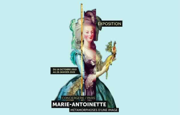 The poster for the Marie Antoinette exhibit at the Conciergerie, one of the upcoming exhibitions in Paris