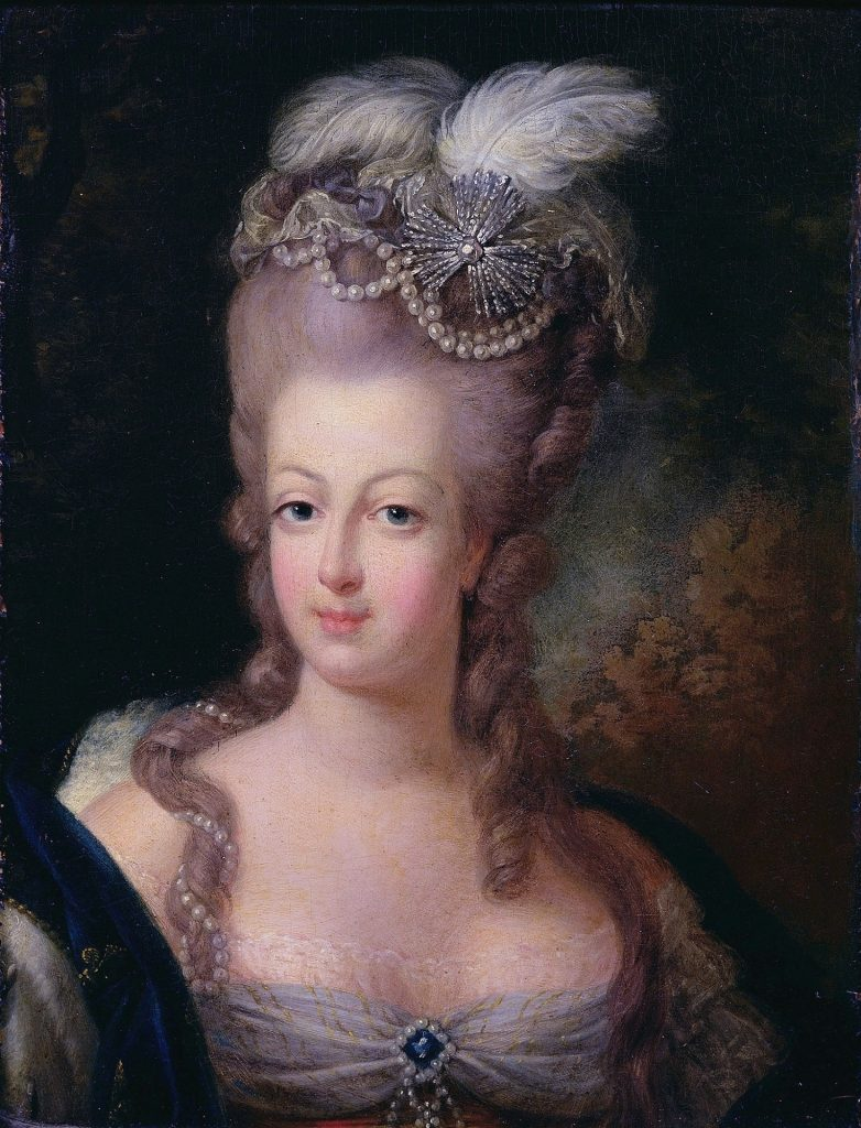 A painting of Marie Antoinette, the victim of the Affair of the Diamond Necklace