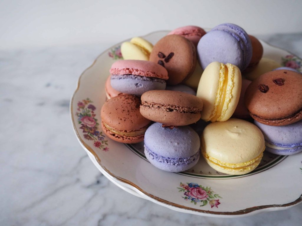 A photo of the macarons you will make on the Versailles Experience