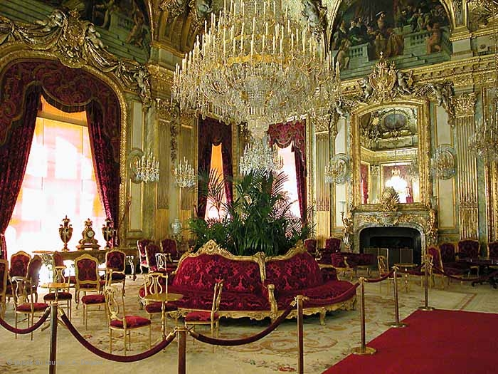 A photo of Napoleon III's apartments at the Louvre