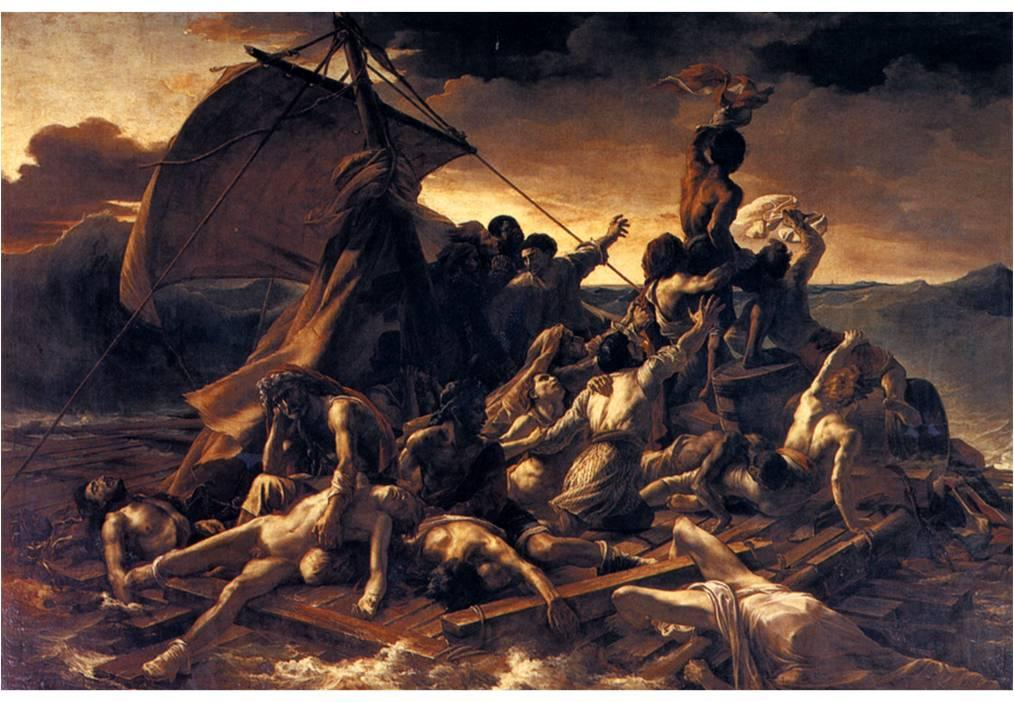 A photo of the painting The Raft of the Medusa