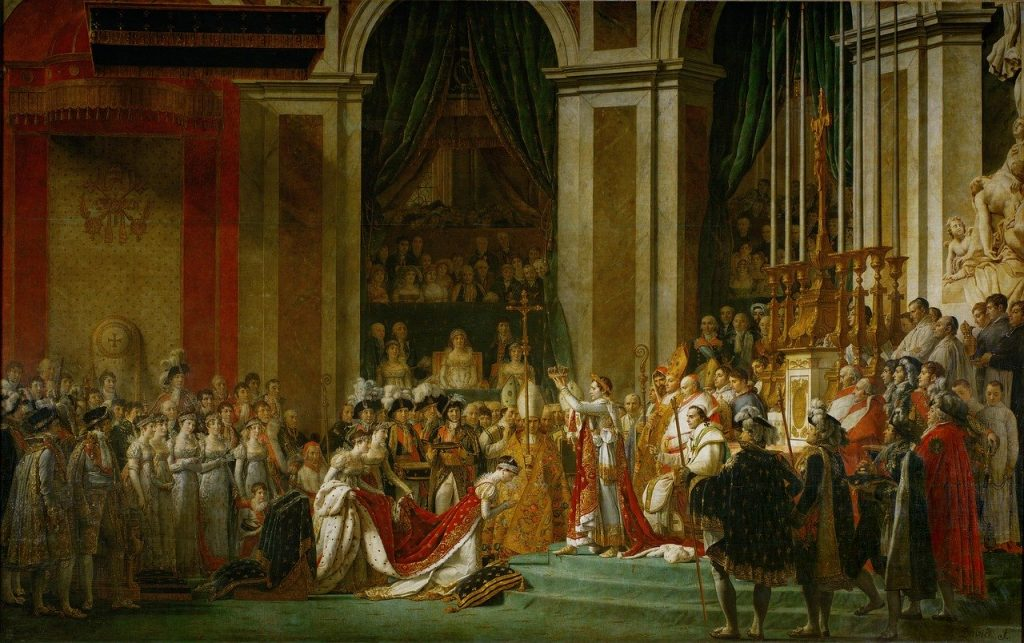 A photo of the painting The Coronation of Emperor Napoleon