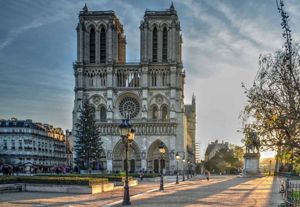 A photo of Notre Dame Cathedral, the subject of this year's year in review