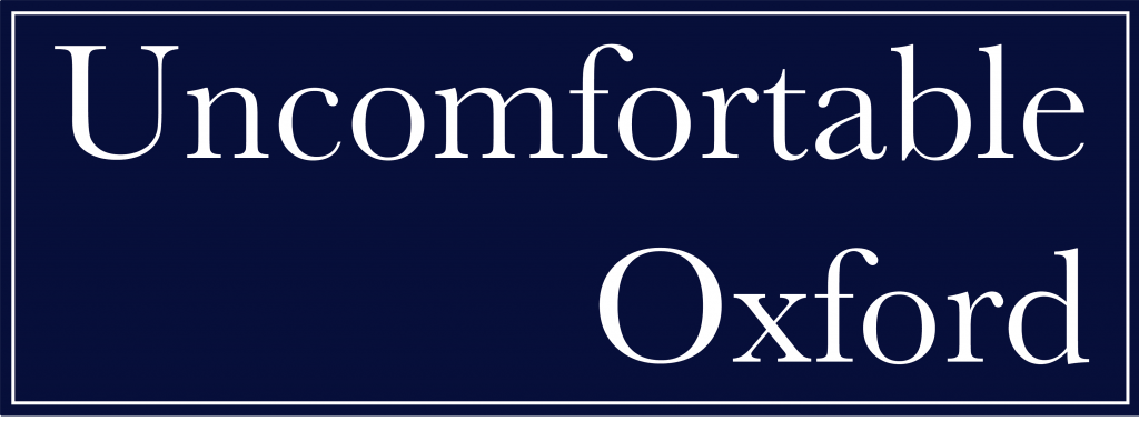 The logo of Uncomfortable Oxford