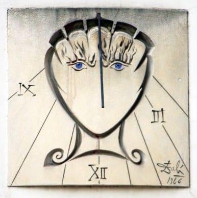 A photo of the Salvador Dali sundial in Paris