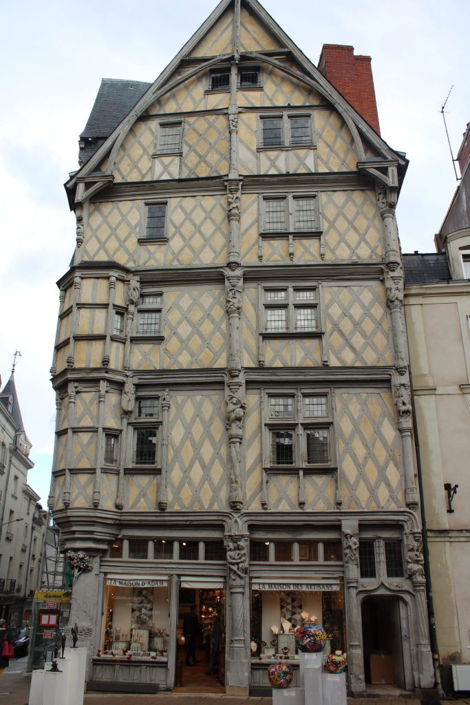 A photo of the facade of the House of Adam in Angers, France.