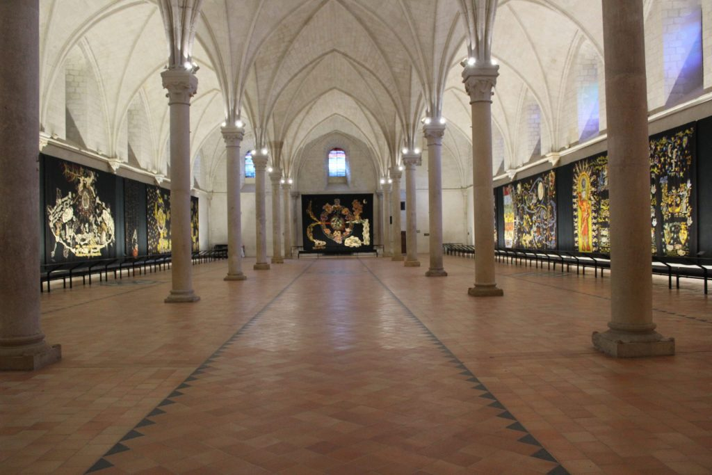 A photo of the Museum of Jean-Lurçat and The Song of the World tapestry.