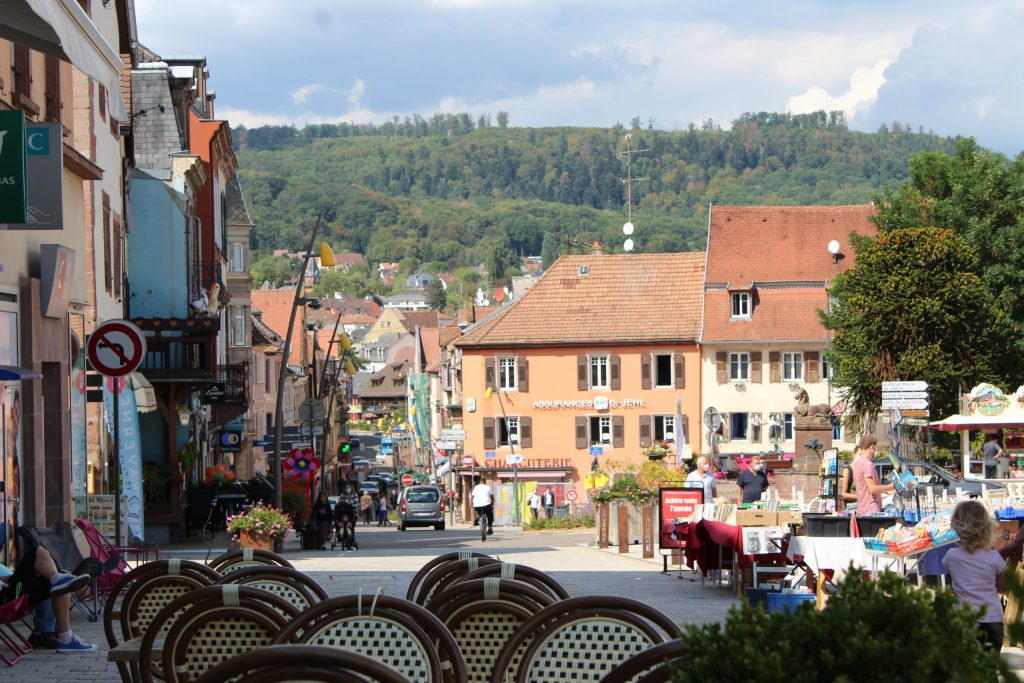 A photo of the main street of Saverne.