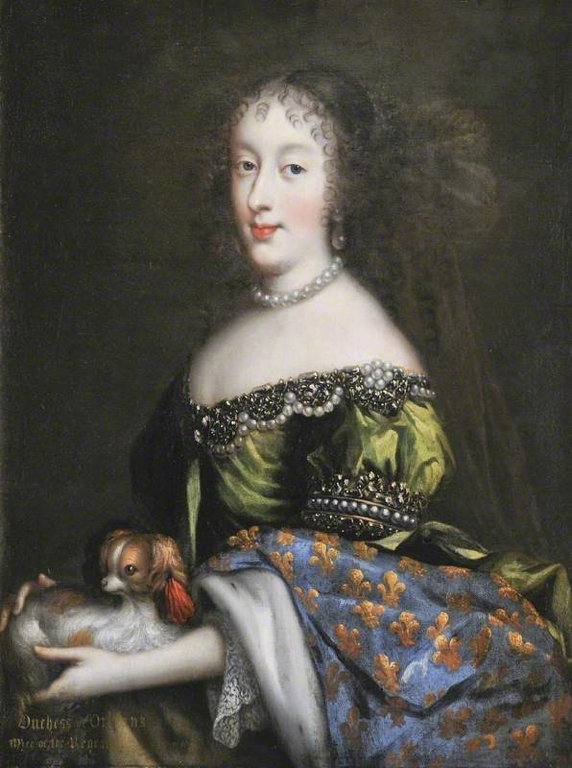 A portrait of Princess Henrietta, first wife of Philippe I, Duke of Orléans