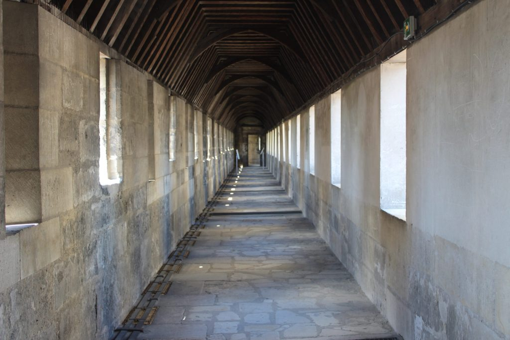 A photo of one of the empty hallways in the Chateau de Vincennes.